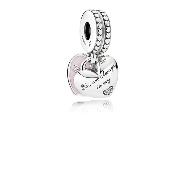 Mother & Daughter Hearts Dangle Charm Arezzo Jewelers Chicago, IL