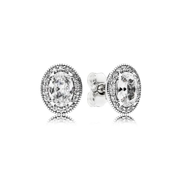 Oval Sparkle Halo Stud Earrings Arezzo Jewelers Chicago, IL