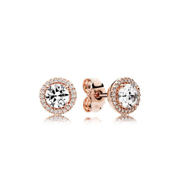 Round Sparkle Halo Stud Earrings Arezzo Jewelers Chicago, IL