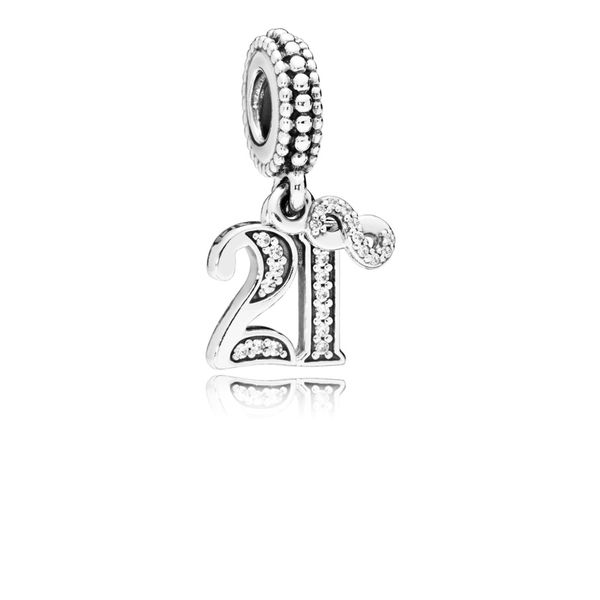 21 Years of Love Dangle Charm, Clear CZ Arezzo Jewelers Chicago, IL
