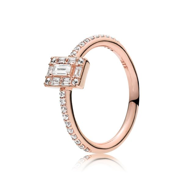 Luminous Ice Ring, PANDORA Rose™ & Clear CZ Arezzo Jewelers Chicago, IL