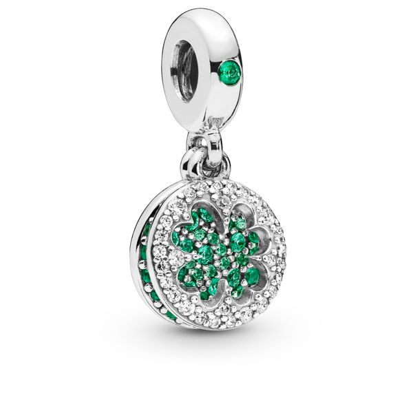 Lucky Four Leaf Clover Dangle Charm Arezzo Jewelers Chicago, IL