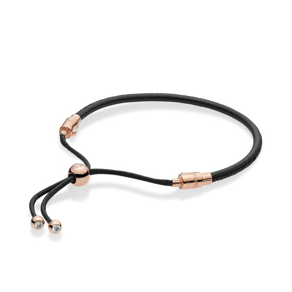 Sliding Leather Bracelet, Pandora Rose™ Arezzo Jewelers Chicago, IL