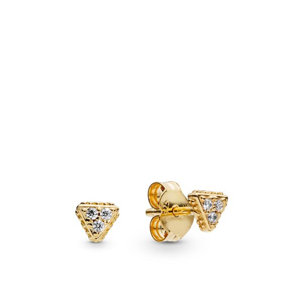Sparkling Triangles Stud Earrings, Pandora Shine™ Arezzo Jewelers Chicago, IL
