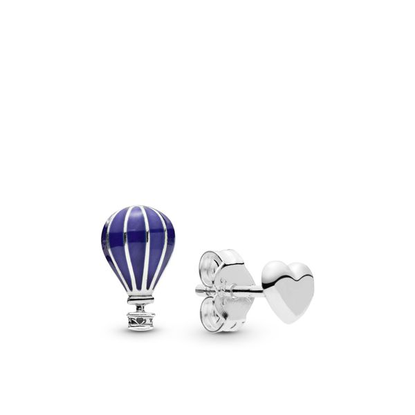 Hot Air Balloon & Heart Stud Earrings Arezzo Jewelers Chicago, IL
