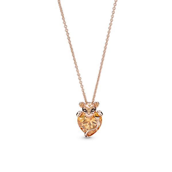 Sparkling Lion Princess Heart Necklace, Pandora Rose™ Arezzo Jewelers Chicago, IL