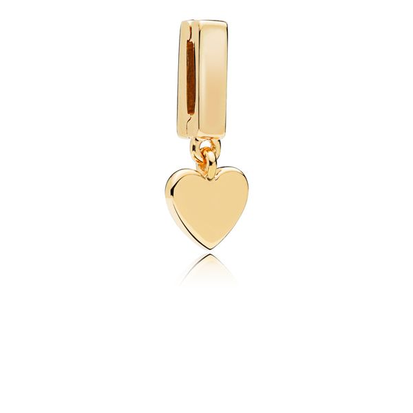 PANDORA Reflexions™ Floating Heart Clip Charm, PANDORA Shine™ Arezzo Jewelers Chicago, IL