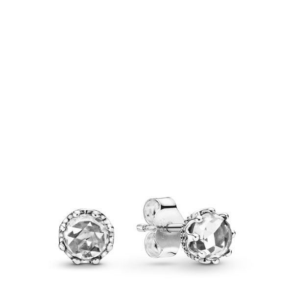 Clear Sparkling Crown Stud Earrings Arezzo Jewelers Chicago, IL