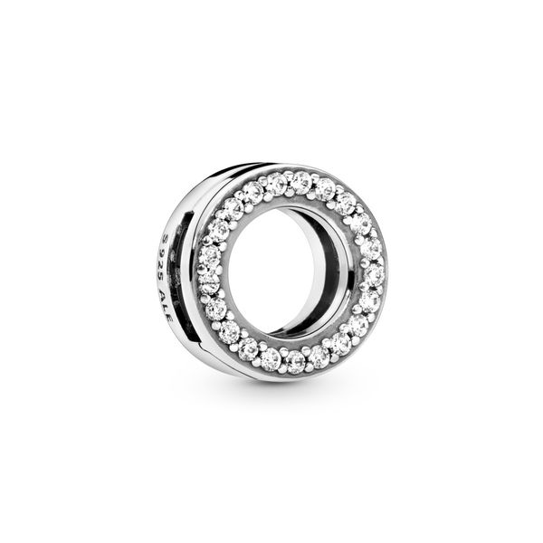 Circle of Pavé Clip Charm Arezzo Jewelers Elmwood Park, IL
