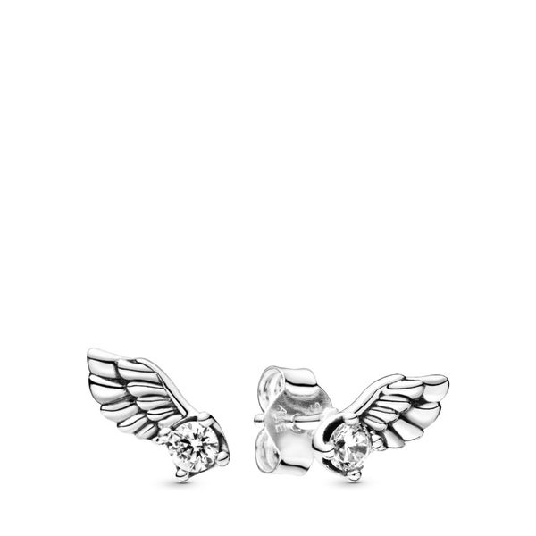 Sparkling Angel Wing Stud Earrings Arezzo Jewelers Chicago, IL