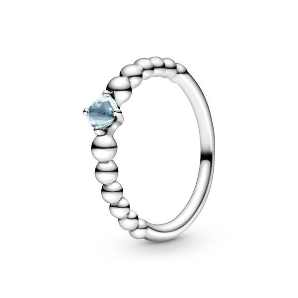 Aqua Blue Beaded Ring Arezzo Jewelers Chicago, IL
