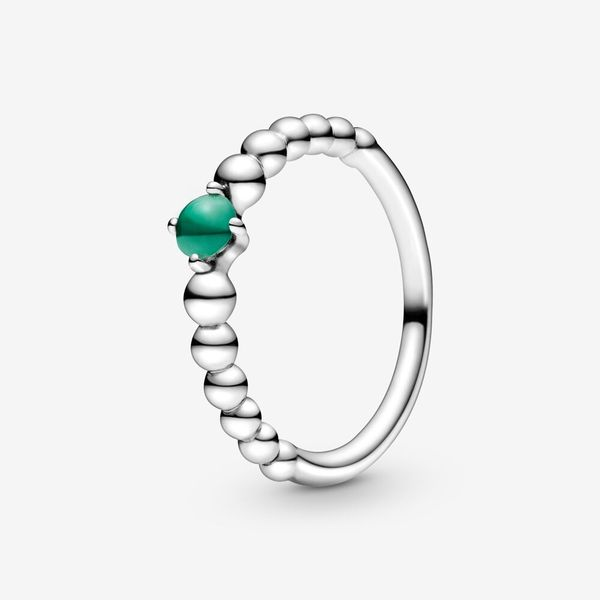 Rainforest Green Beaded Ring Arezzo Jewelers Chicago, IL