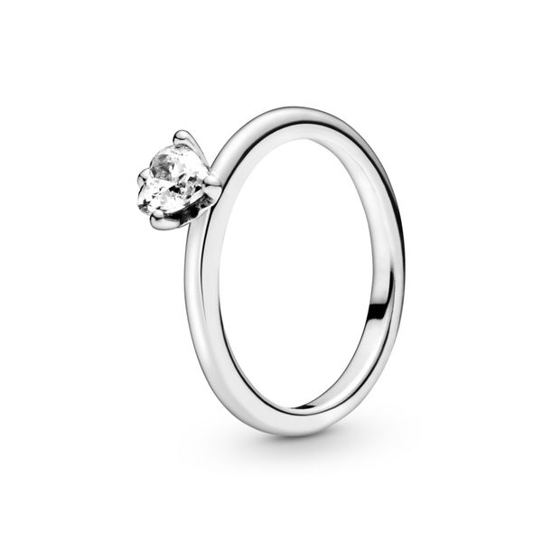 Clear Heart Solitaire Ring Arezzo Jewelers Chicago, IL