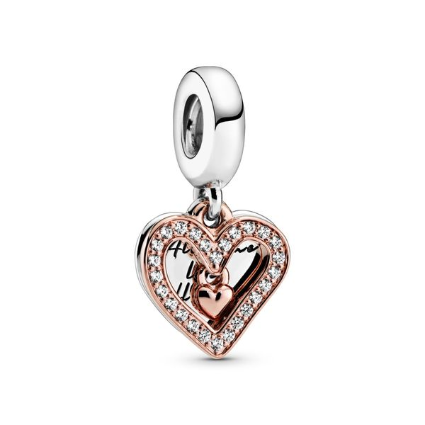 Sparkling Freehand Heart Dangle Charm Arezzo Jewelers Chicago, IL