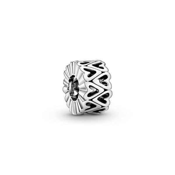 Openwork Freehand Heart Spacer Charm Arezzo Jewelers Chicago, IL