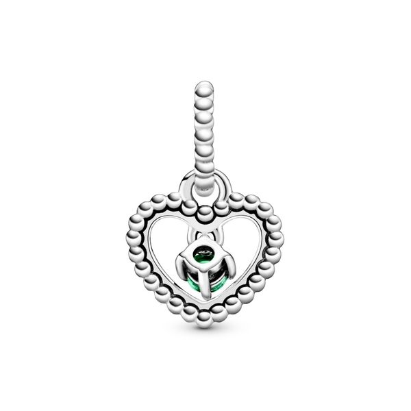 Rainforest Green Beaded Heart Dangle Charm Arezzo Jewelers Chicago, IL