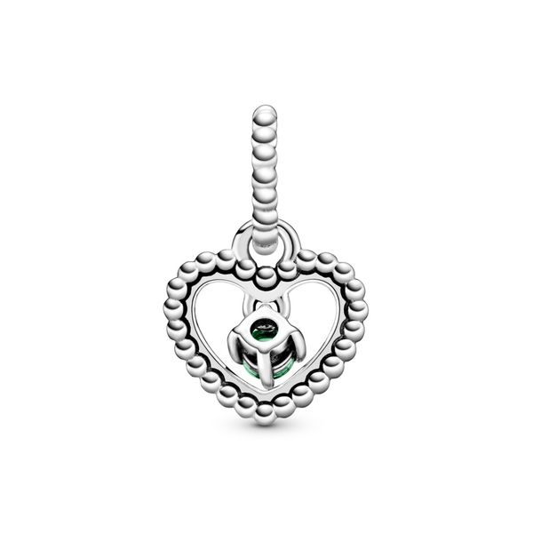 Spring Green Beaded Heart Dangle Charm Arezzo Jewelers Chicago, IL