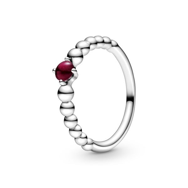 Dark Red Beaded Ring Arezzo Jewelers Chicago, IL