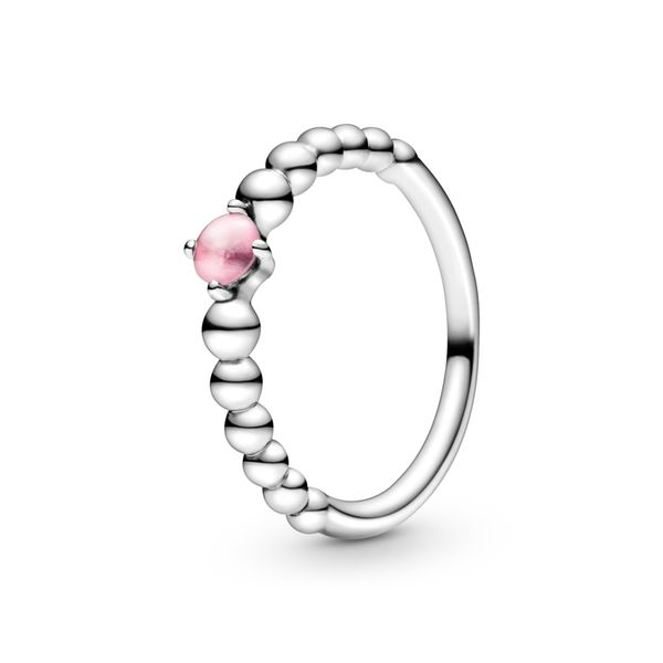 Petal Pink Beaded Ring Arezzo Jewelers Chicago, IL