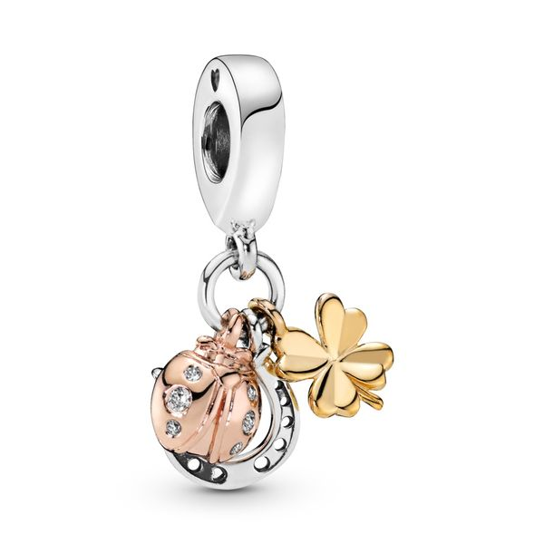 Horseshoe, Clover & Ladybird Dangle Charm Arezzo Jewelers Elmwood Park, IL