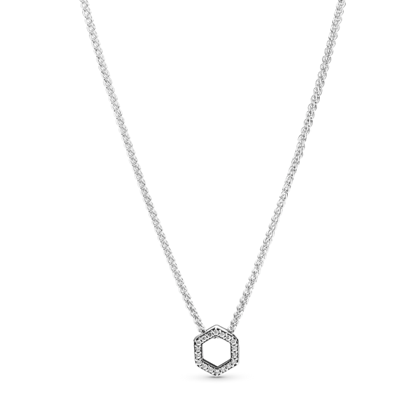 Sparkling Honeycomb Hexagon Collier Necklace Arezzo Jewelers Chicago, IL