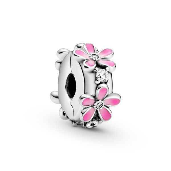 Pink Daisy Flower Clip Charm Arezzo Jewelers Chicago, IL