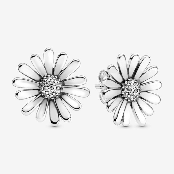 Pavé Daisy Flower Statement Stud Earrings Arezzo Jewelers Chicago, IL
