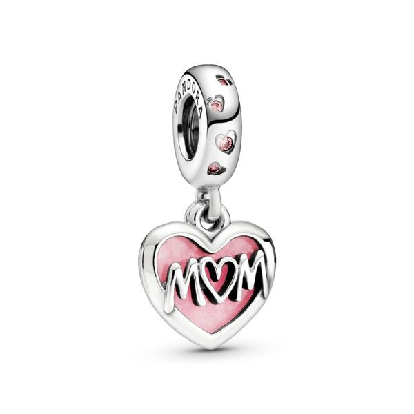 Mom Script Heart Dangle Charm Arezzo Jewelers Chicago, IL