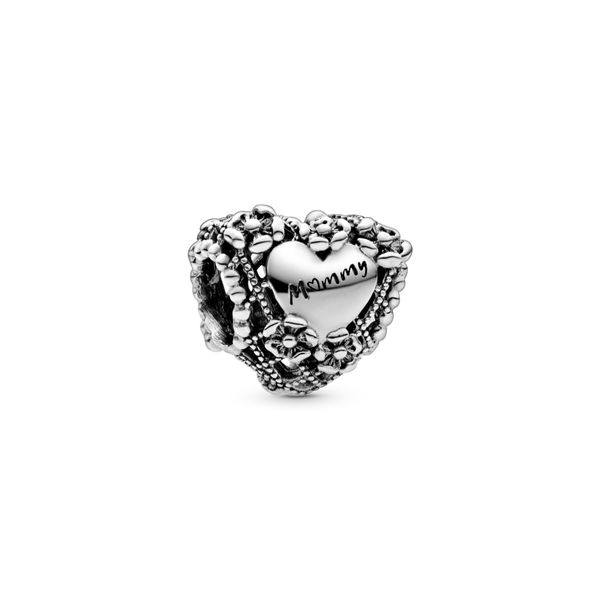 Openwork Flower Heart Mommy Charm Arezzo Jewelers Chicago, IL