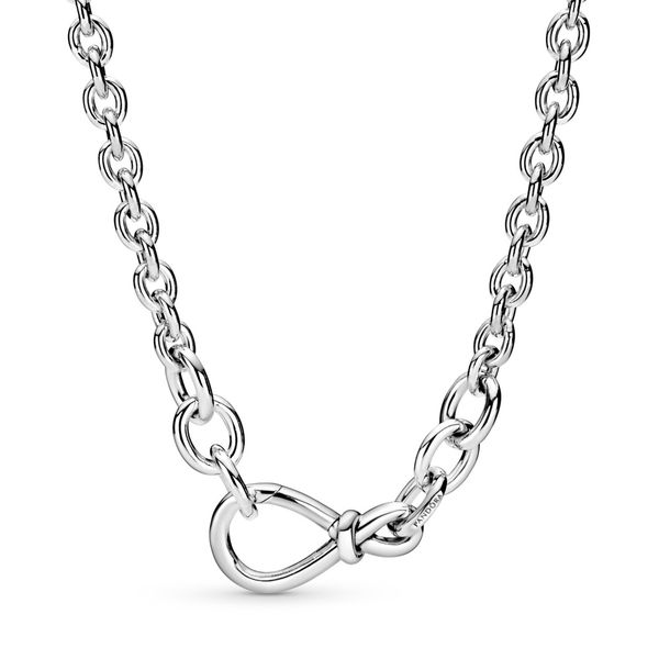 Chunky Infinity Knot Chain Necklace Arezzo Jewelers Chicago, IL