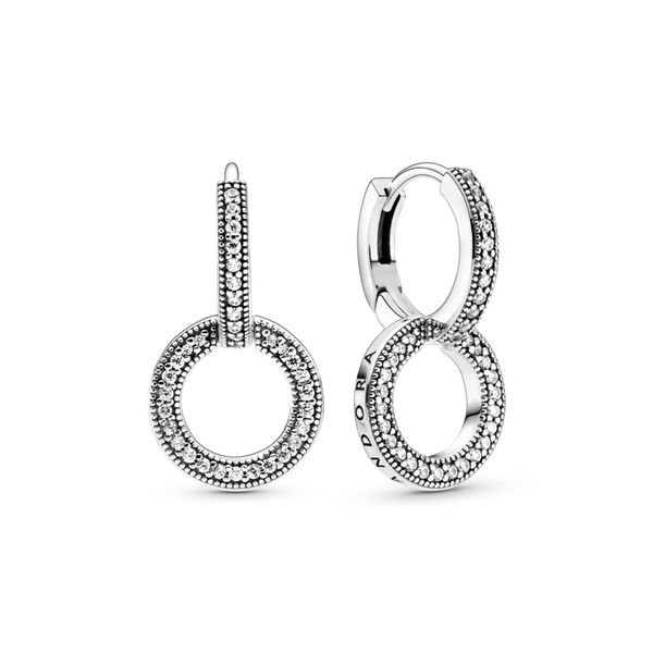 Sparkling Double Hoop Earrings Arezzo Jewelers Chicago, IL