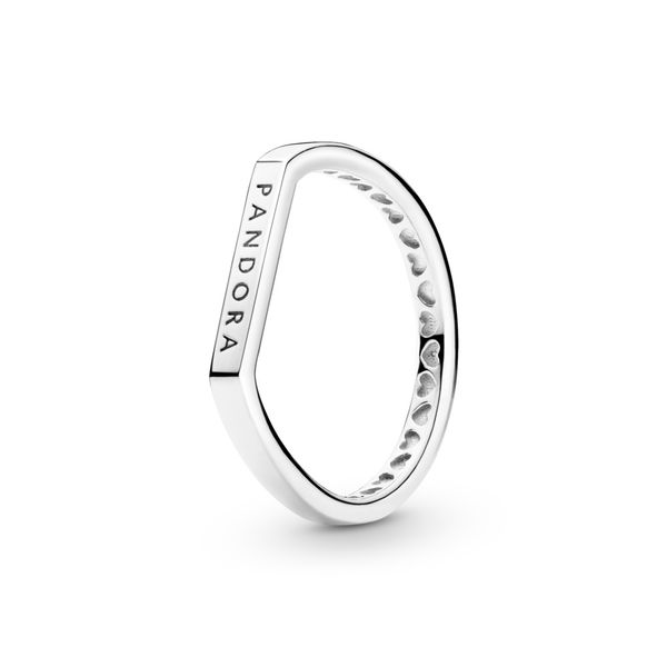 Logo Bar Stacking Ring Arezzo Jewelers Chicago, IL