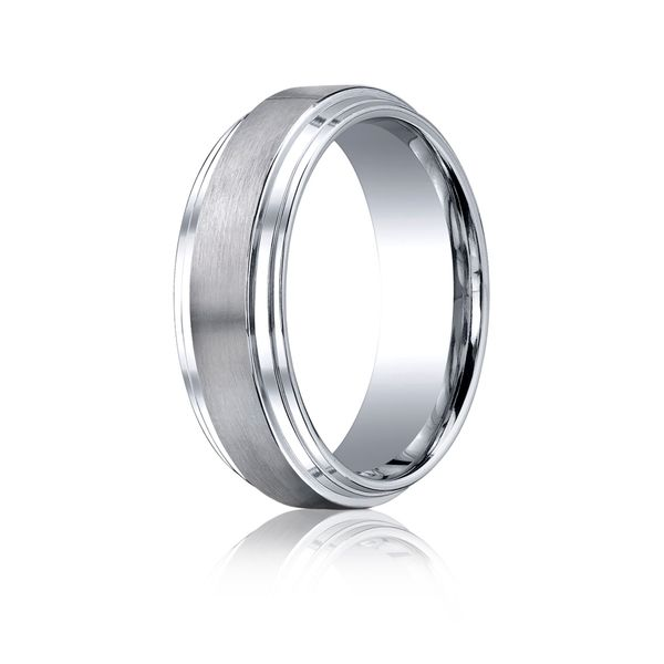 Cobalt Chrome Wedding Band Image 2 Arezzo Jewelers Chicago, IL