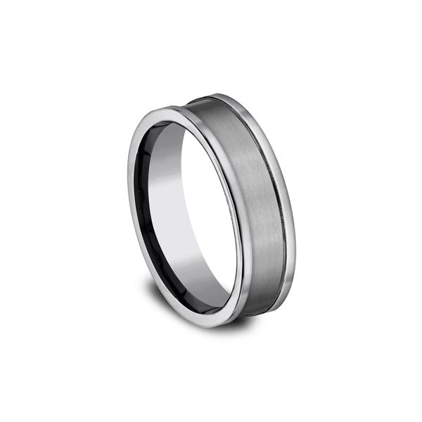Tungsten Wedding Band Image 2 Arezzo Jewelers Chicago, IL