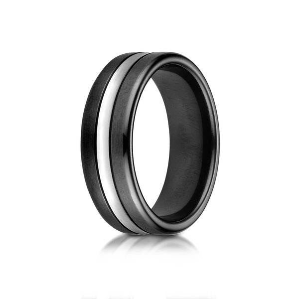 Cobalt Chrome Wedding Band Arezzo Jewelers Chicago, IL