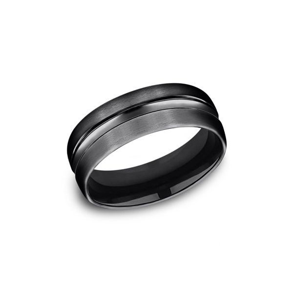 Black Titanium 7.5mm Band Arezzo Jewelers Chicago, IL