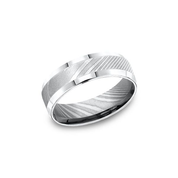 Damascus Steel 7mm Band Arezzo Jewelers Elmwood Park, IL