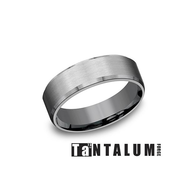 Tantalum Grey Metal 7mm Wedding Band Arezzo Jewelers Chicago, IL