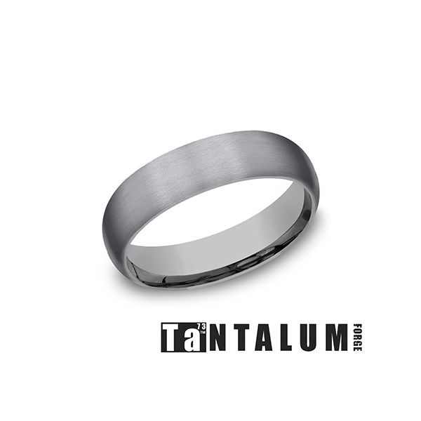 Tantalum Grey Metal 6mm Wedding Band Arezzo Jewelers Chicago, IL