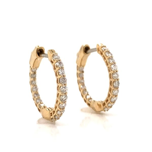 Diamond Hoop Earrings Armentor Jewelers New Iberia, LA