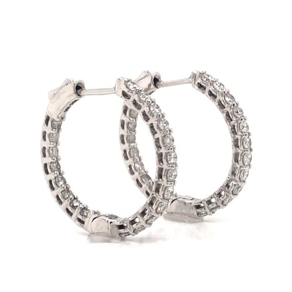 Diamond Hoop Earrings Image 2 Armentor Jewelers New Iberia, LA