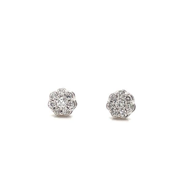 Diamond Halo Earrings Armentor Jewelers New Iberia, LA