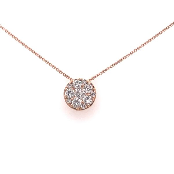 Diamond Halo Necklace Armentor Jewelers New Iberia, LA