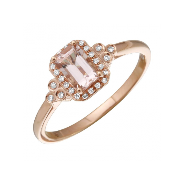 Morganite Halo Ring Armentor Jewelers New Iberia, LA