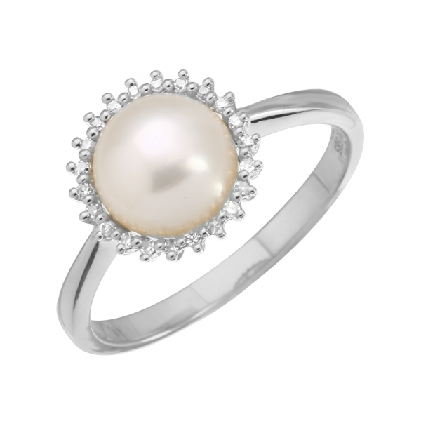 Pearl Halo Ring Armentor Jewelers New Iberia, LA