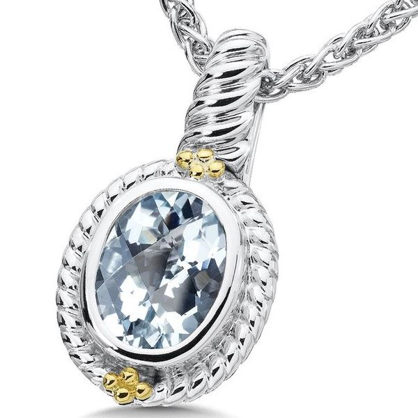 Rhodium Sterling Silver & 18Ky Pendant/Necklace,