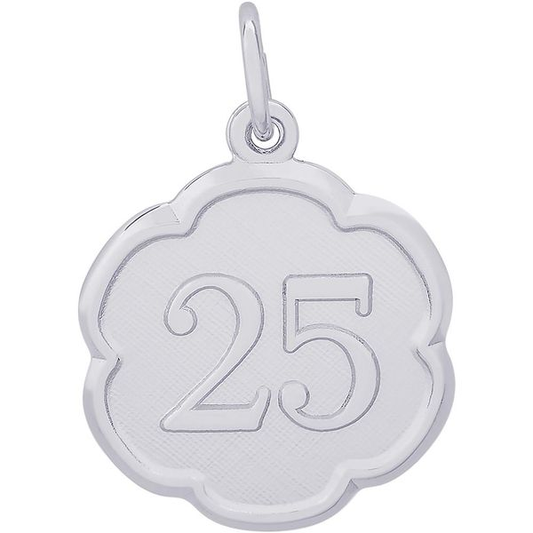 Rhodium Sterling Silver Number