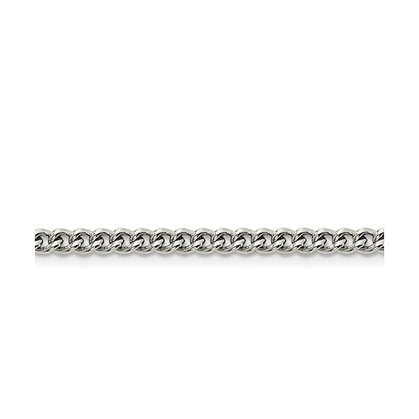 Stainlesssteel 4mm Round  Curb Chain Length  20