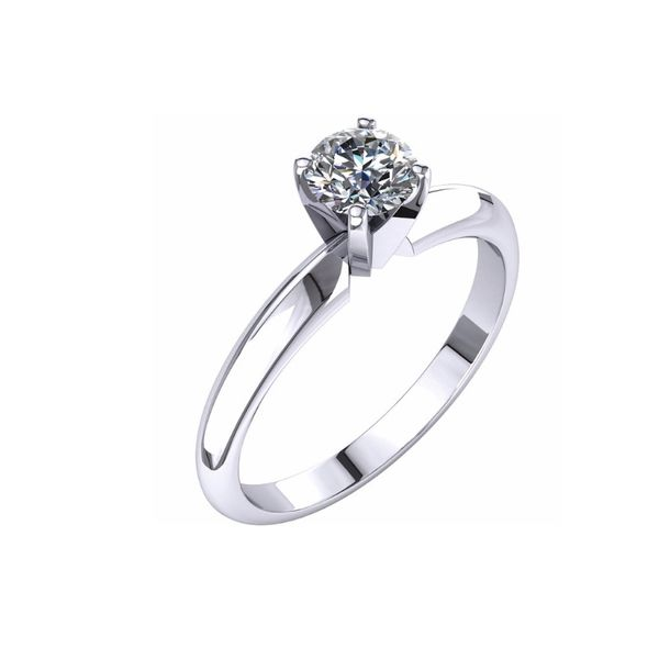 14KW 0.42tw Canadian Diamond Engagement Ring Barthau Jewellers Stouffville, ON