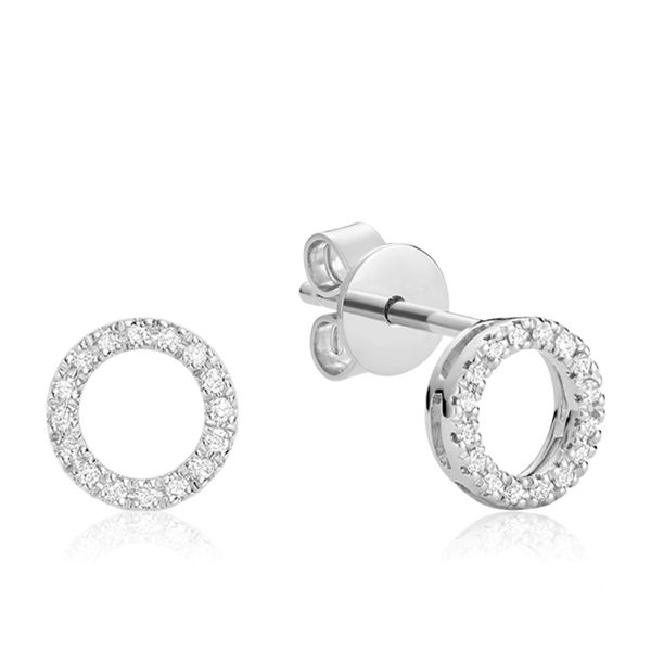 10KW Diamond Circle Earrings Barthau Jewellers Stouffville, ON